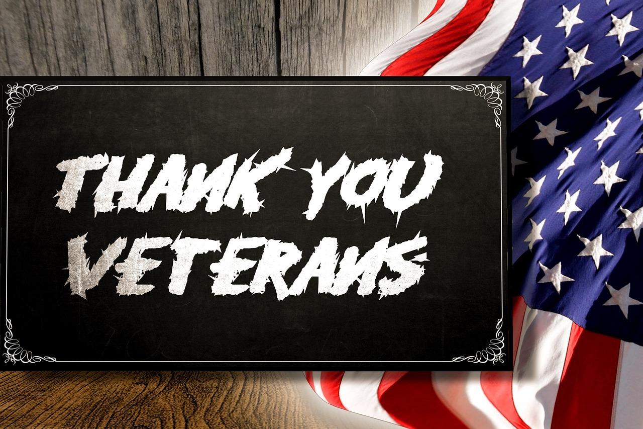 Veterans Sign Thanks Flag