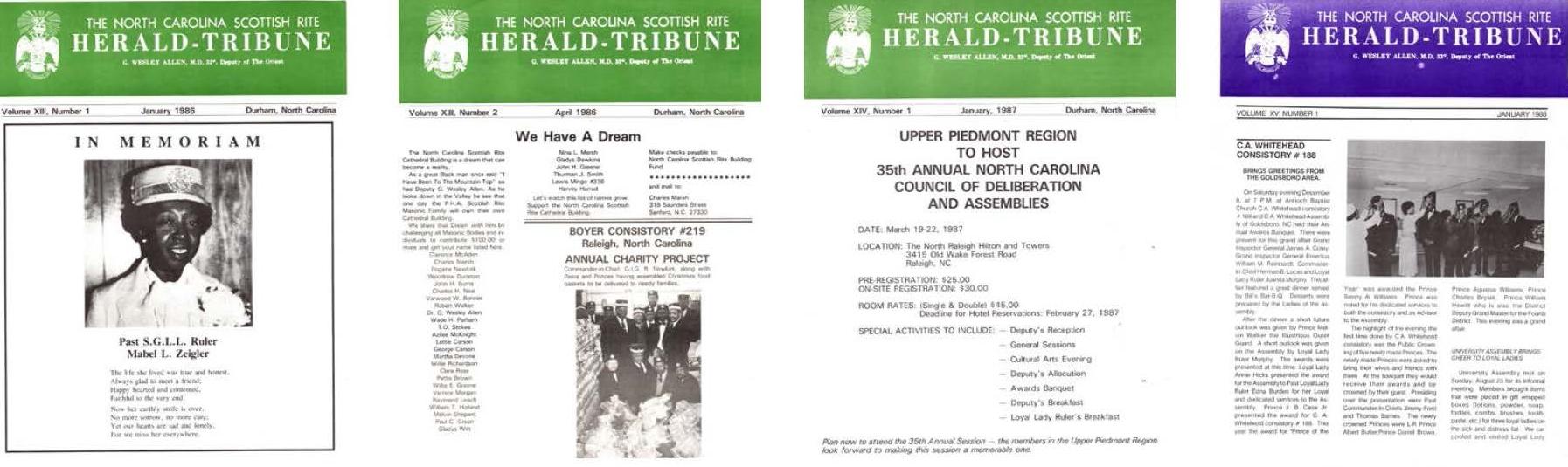 Herald Tribune set 2 of 4